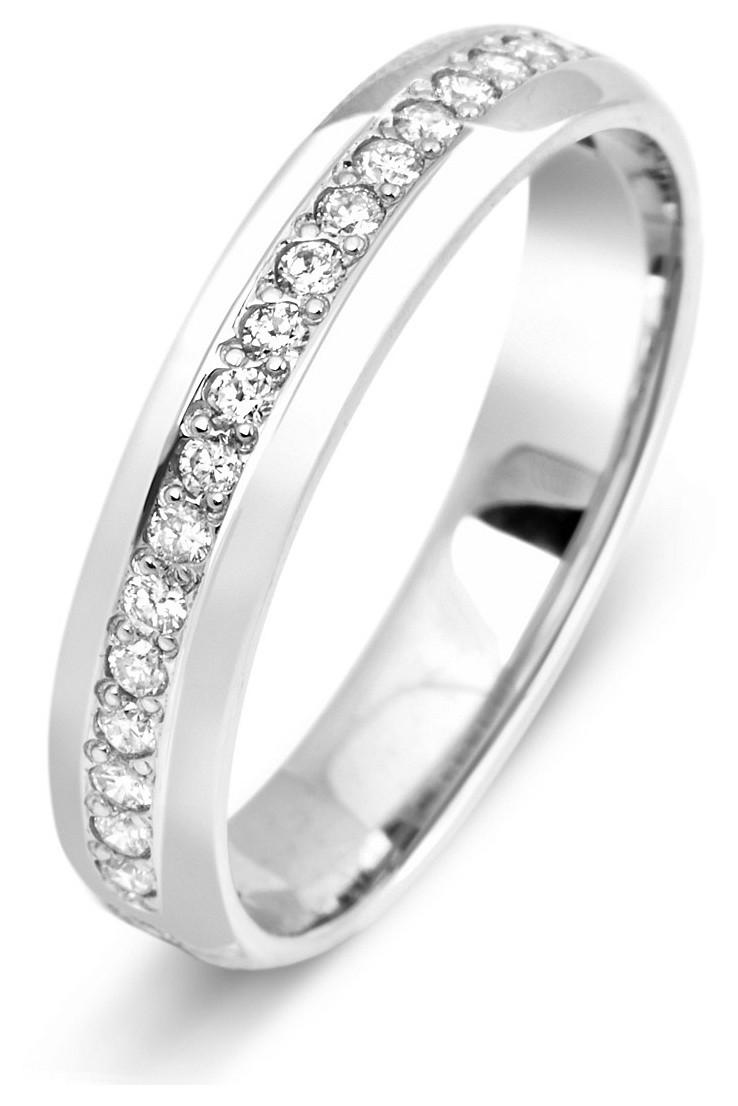 Обручальное кольцо с бриллиантами из белого золота 010863   ЗлатоГрад b8931d4a071
