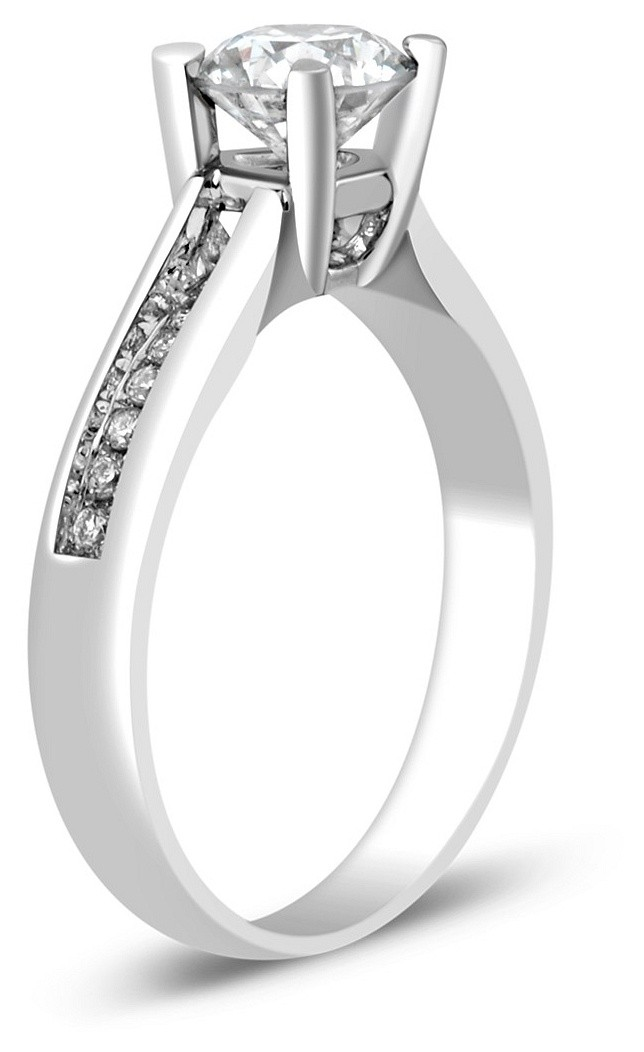 Помолвочное кольцо из белого золота с бриллиантами 023609   ЗлатоГрад 8fc1a6e596b