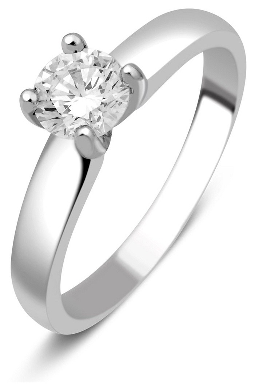 Помолвочное кольцо из белого золота с бриллиантом 014345   ЗлатоГрад 2ae235b6cea