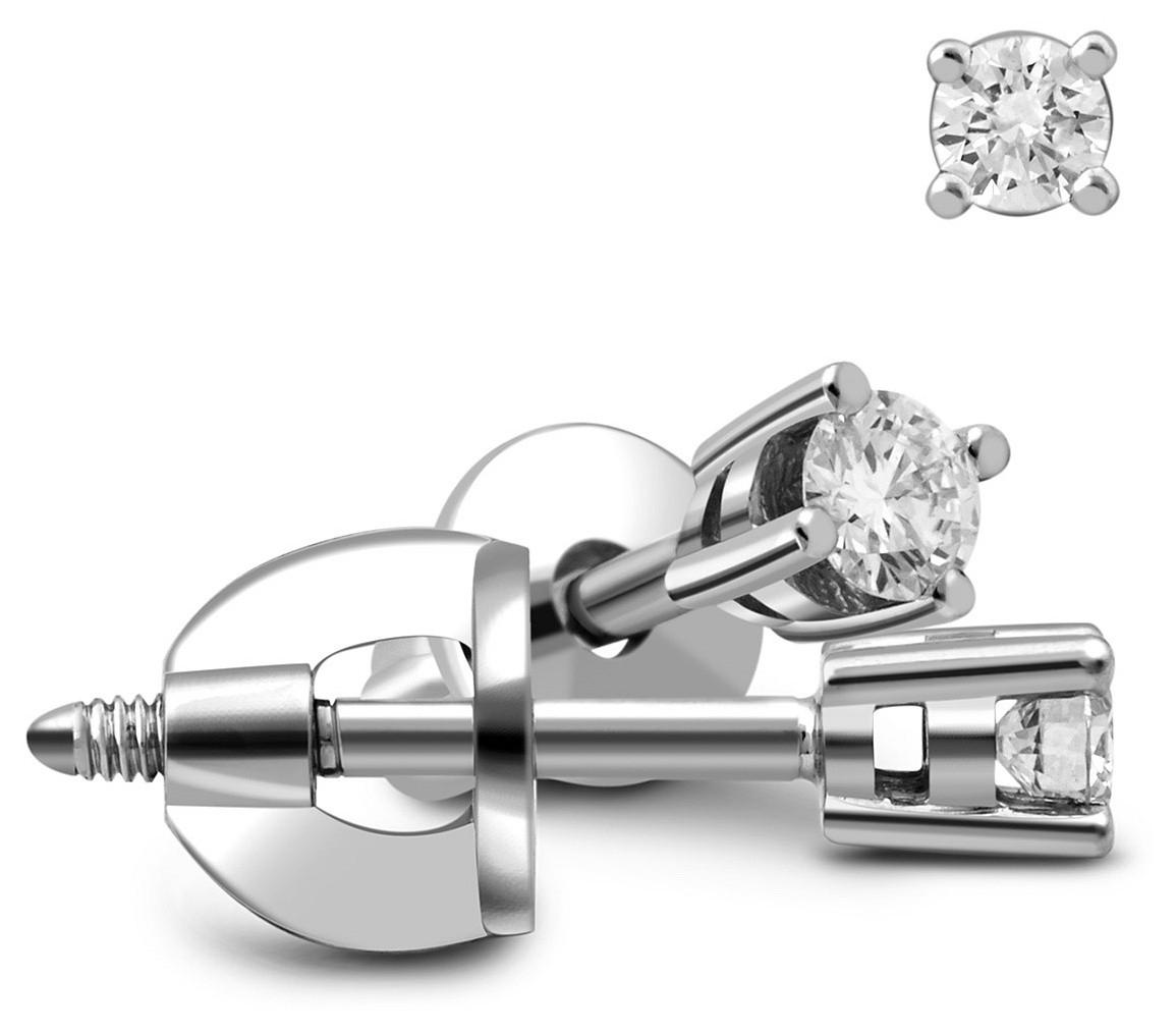Серьги пусеты с бриллиантами купить