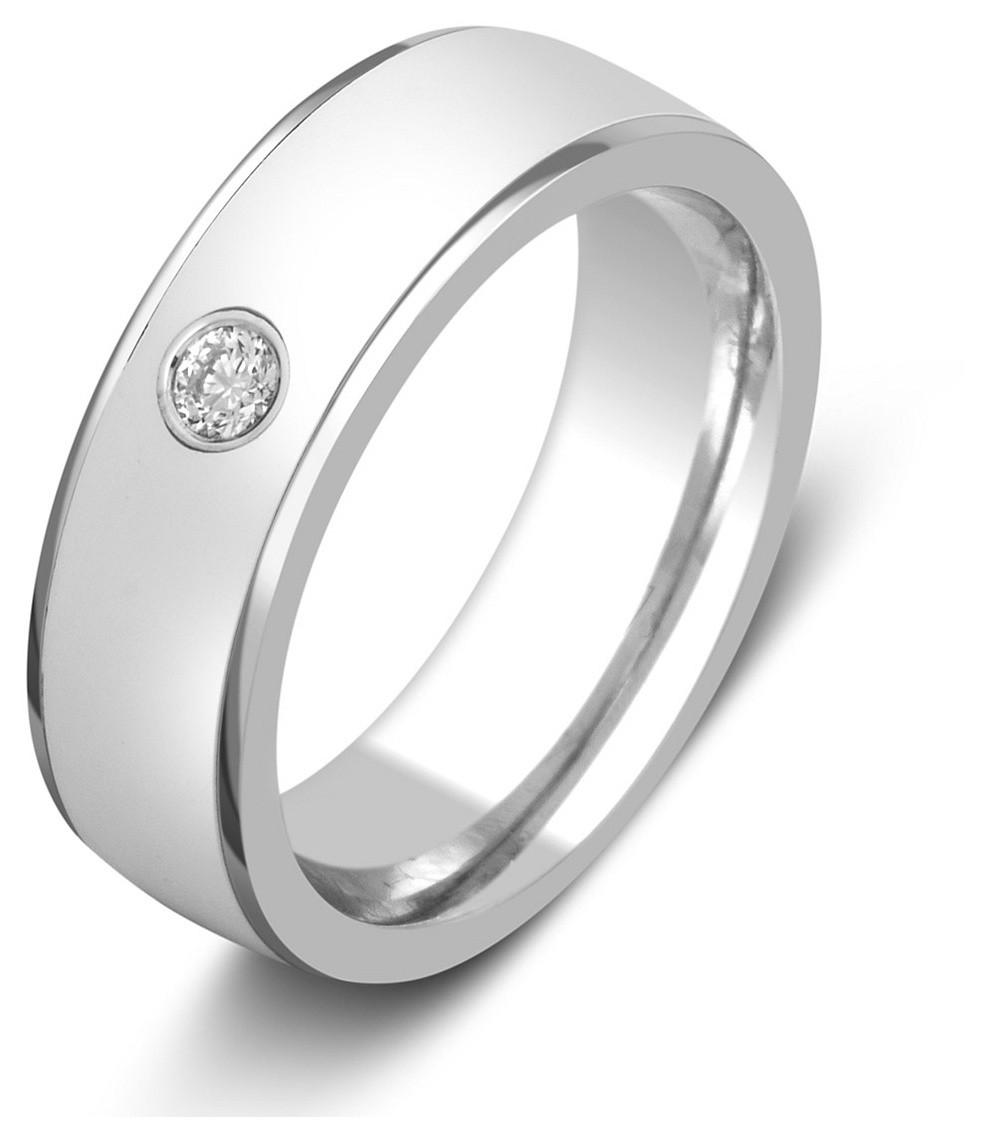 19f83195cc01 Обручальное кольцо из белого золота с бриллиантом 026002   ЗлатоГрад