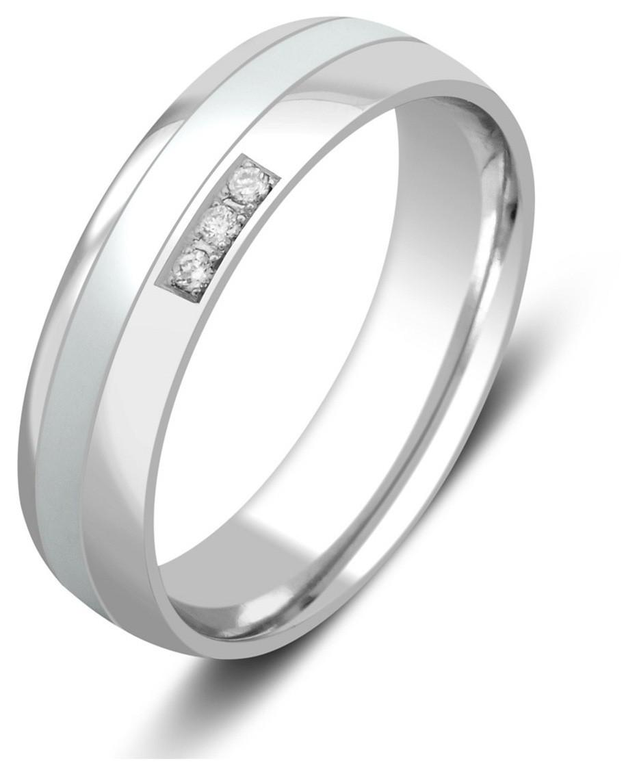 Обручальное кольцо из белого золота с бриллиантами и керамикой (026004) 65e2ea74e4c