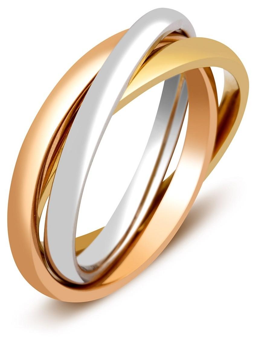 Обручальное кольцо из комбинированного золота Тринити 012189   ЗлатоГрад f1b08f2f2e7