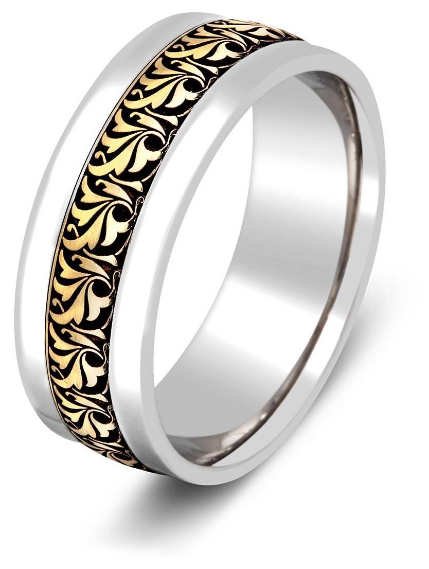 Золотые кольца из белого золота