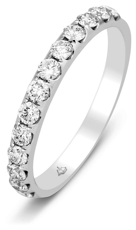 e055f40db827 Обручальное кольцо из белого золота с бриллиантами 014454   ЗлатоГрад