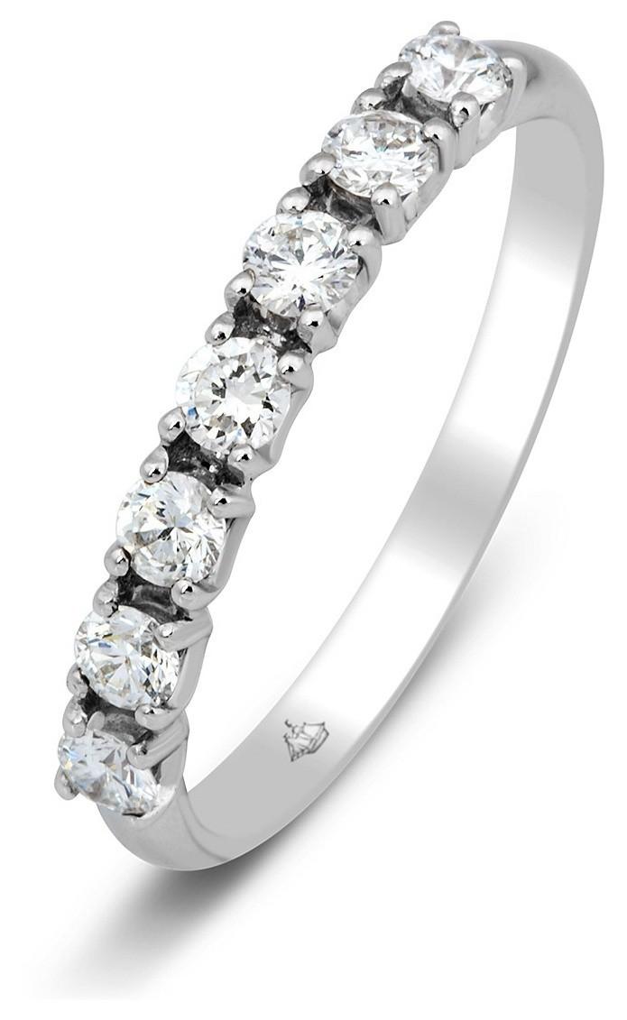 ff80bfaffead Обручальное кольцо из белого золота с 7 бриллиантами 014449   ЗлатоГрад