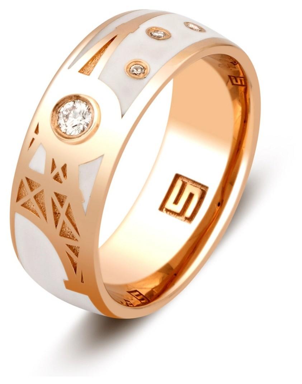 обручальные золотые кольца с эмалью