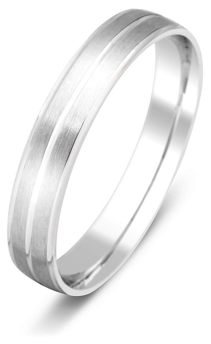 ef233844aead Обручальное кольцо из белого золота 014437   ЗлатоГрад