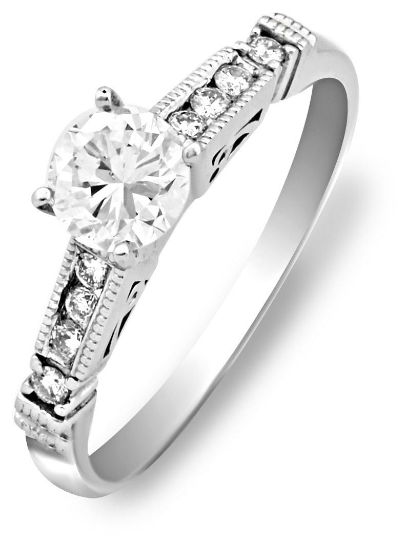 Помолвочное кольцо из белого золота с бриллиантами 016850   ЗлатоГрад 39ab4ac1703