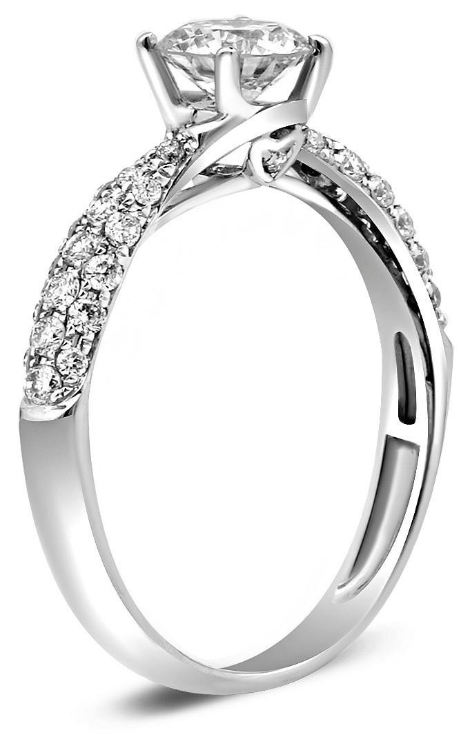 Помолвочное кольцо из белого золота с бриллиантами 019884   ЗлатоГрад 48f86db77c8
