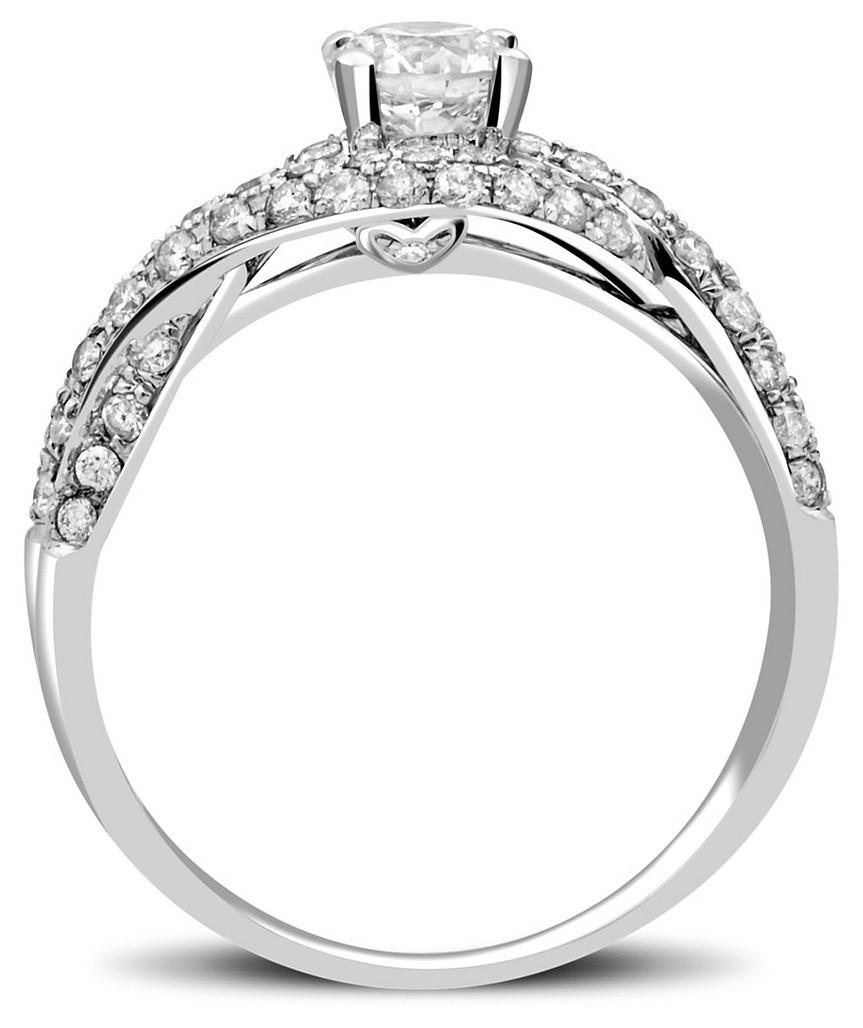 Помолвочное кольцо из белого золота с бриллиантами 022199   ЗлатоГрад 654482f90cd
