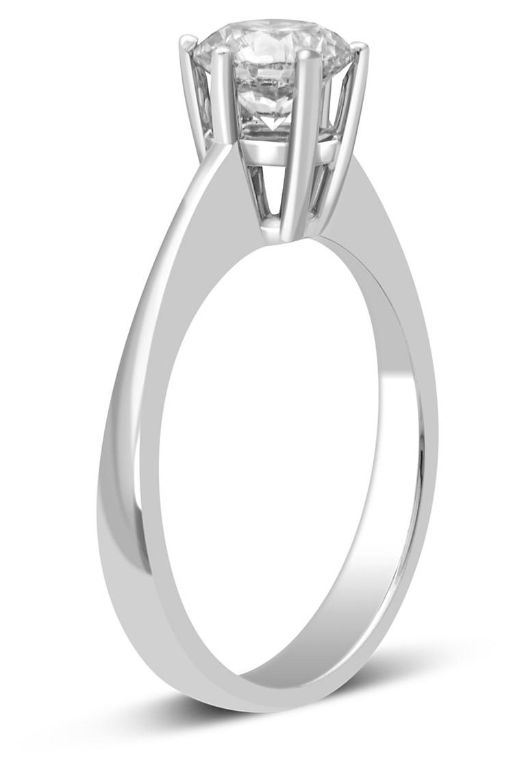 Помолвочное кольцо из белого золота с бриллиантом 027217   ЗлатоГрад 21490a3283a