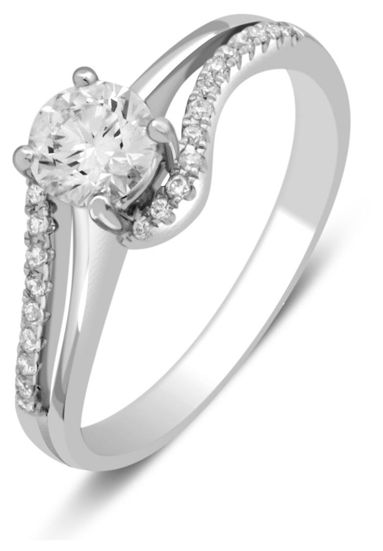 Помолвочное кольцо из белого золота с бриллиантами 032810   ЗлатоГрад 3f236d3c450