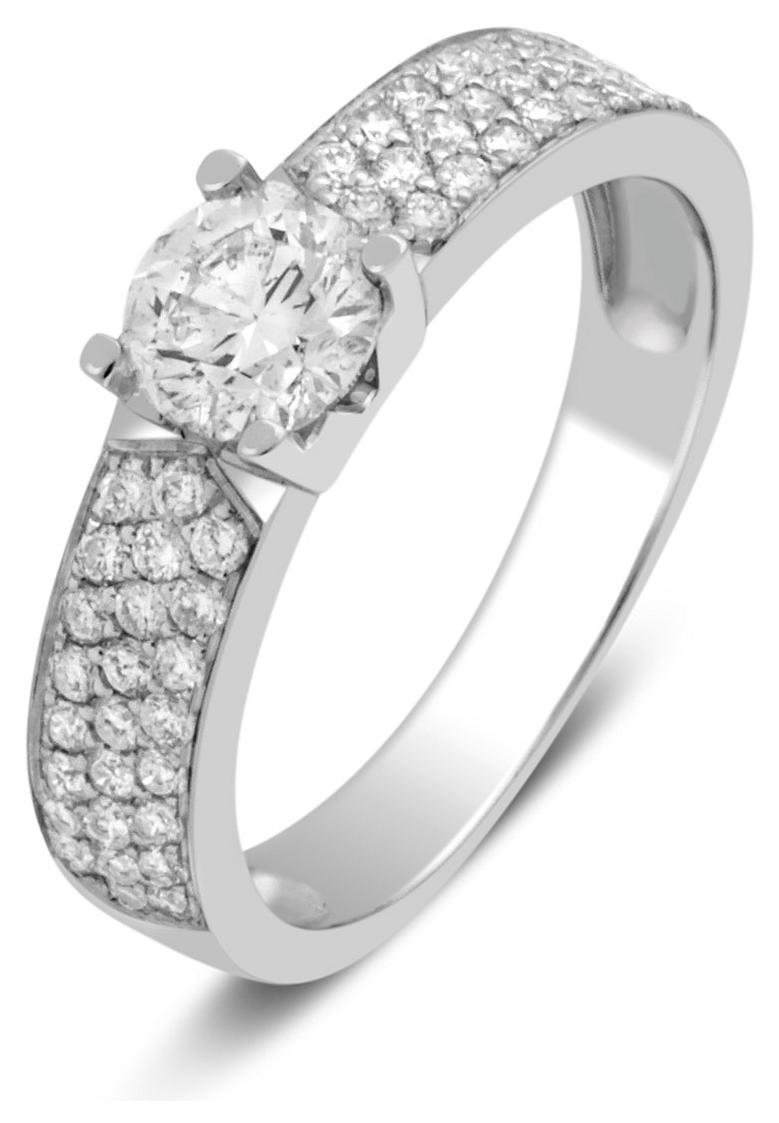 Помолвочное кольцо из белого золота с бриллиантами 024835   ЗлатоГрад f2337d4e31c