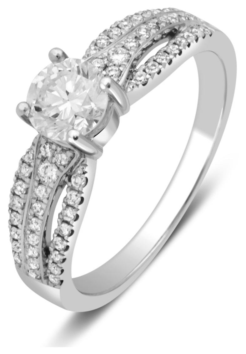 Помолвочное кольцо из белого золота с бриллиантами 024782   ЗлатоГрад fba2e69800b