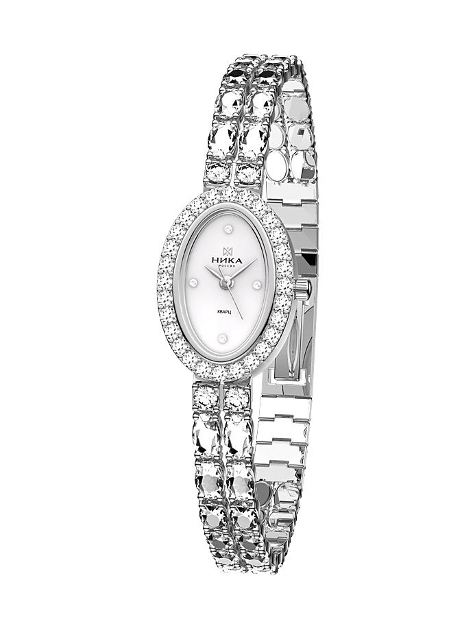 1756952eb561 Часы женские из серебра с цирконами НИКА 014406   ЗлатоГрад