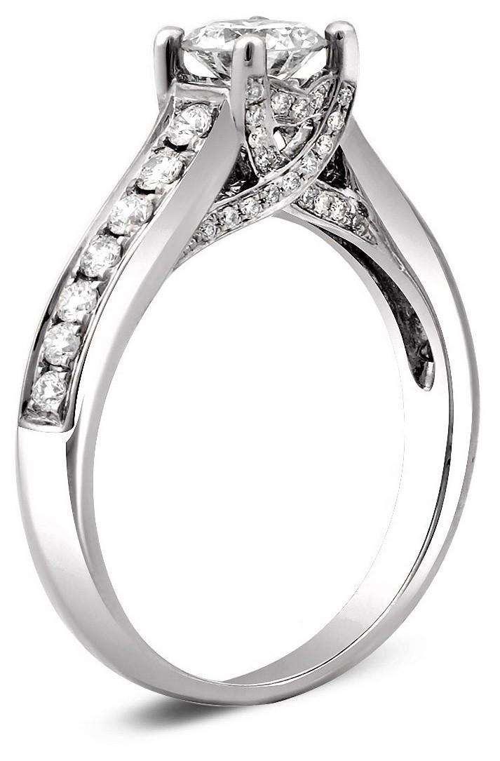 Помолвочное кольцо из белого золота с бриллиантами 023889   ЗлатоГрад 0e38263f0ee
