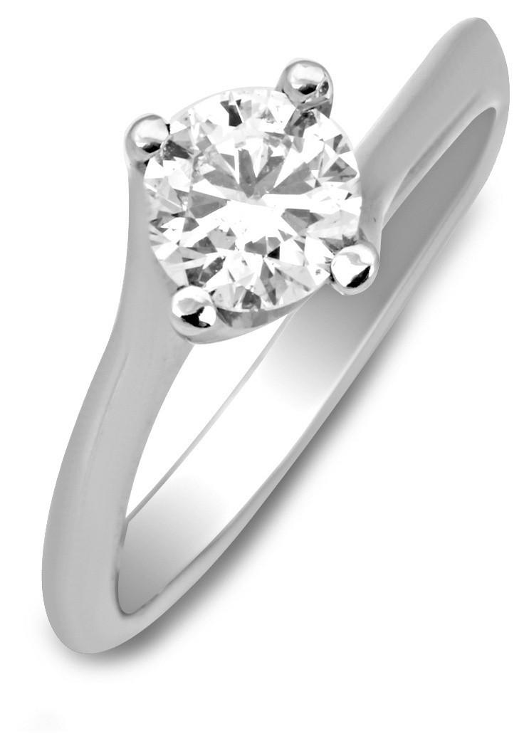 Помолвочное кольцо из белого золота с бриллиантом (007071) 9e87847977428