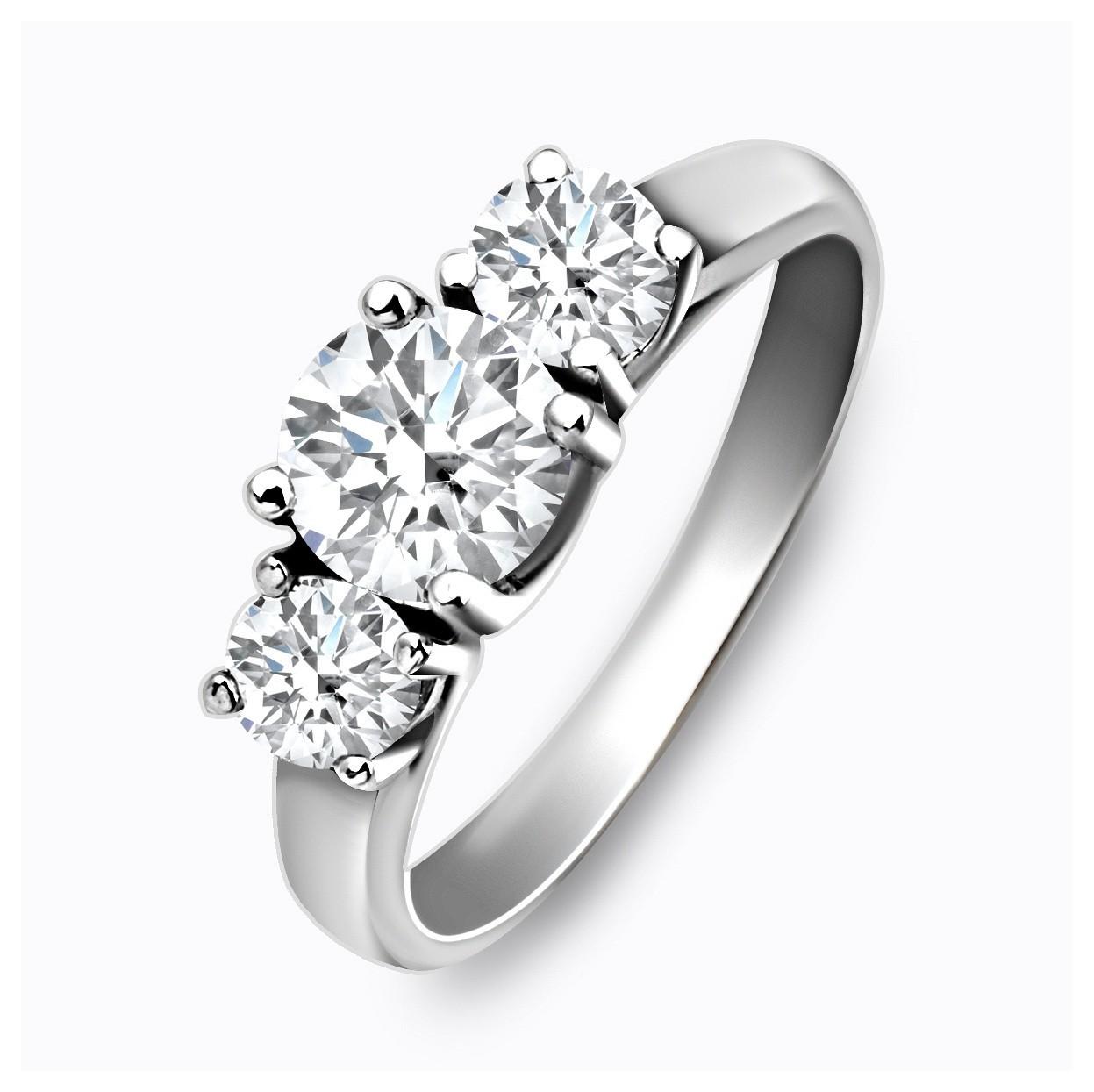 Помолвочное кольцо из белого золота с бриллиантами 027353   ЗлатоГрад f7b64f16a2e