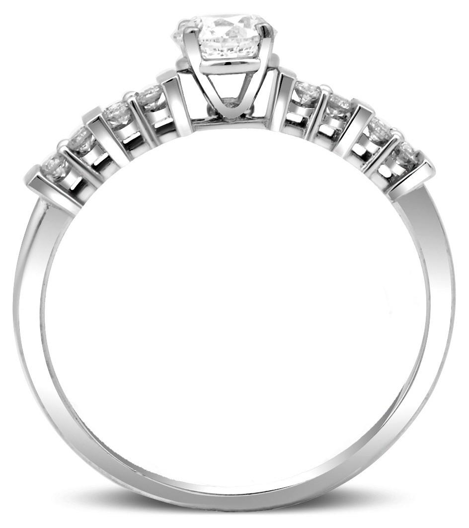 Помолвочное кольцо из белого золота с бриллиантами 023591   ЗлатоГрад 3d98c0d779a