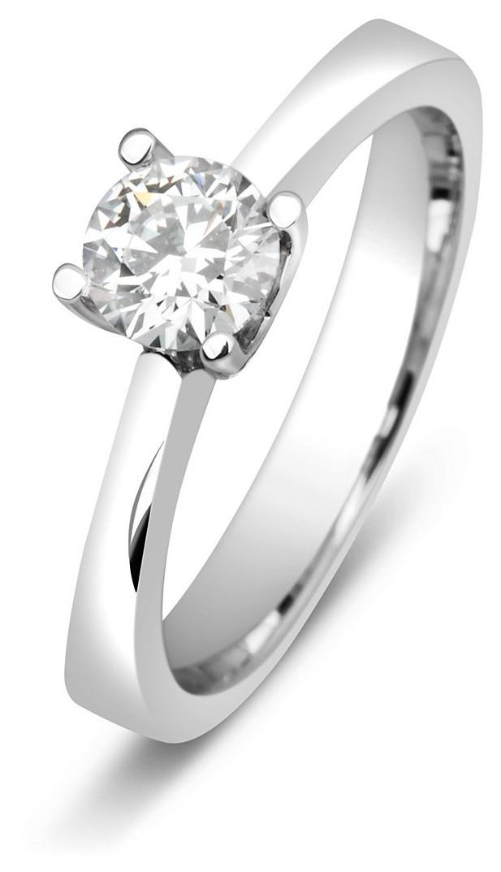 Помолвочное кольцо из белого золота с бриллиантом 014471   ЗлатоГрад 8dd4451a0a4