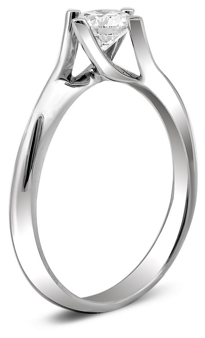 Помолвочное кольцо из белого золота с бриллиантом 014466   ЗлатоГрад c09b9a83a16