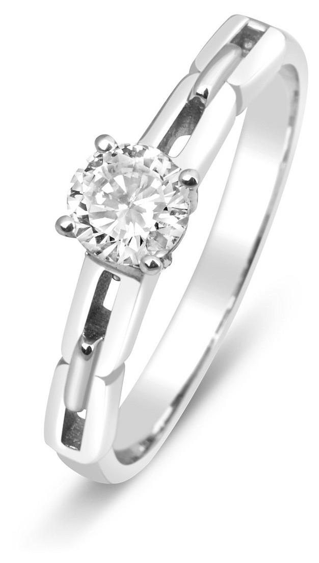 Помолвочное кольцо с бриллиантом из белого золота 015023   ЗлатоГрад 91a36f9ff3f