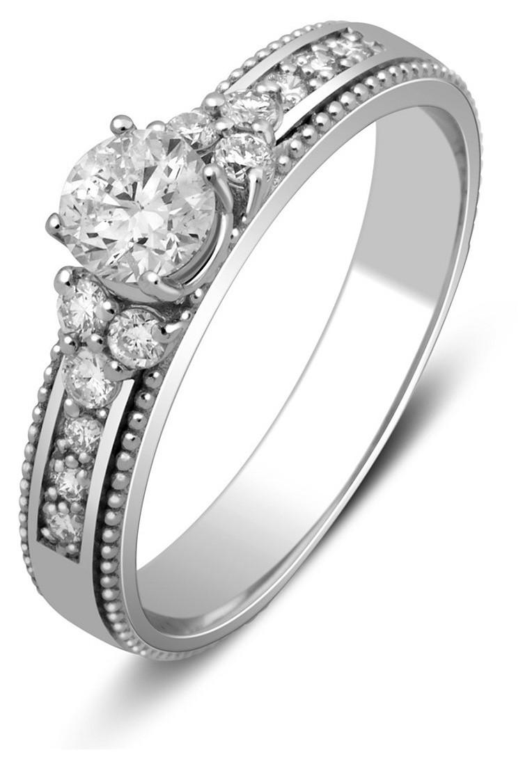 Помолвочное кольцо из белого золота с бриллиантами 025397   ЗлатоГрад 30536252920