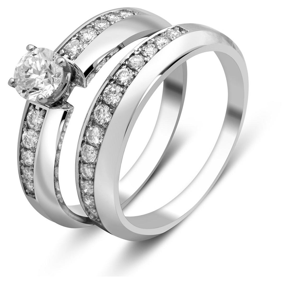 ... Комплект  помолвочное и обручальное кольца из белого золота с  бриллиантами (025395) ... 147444db873