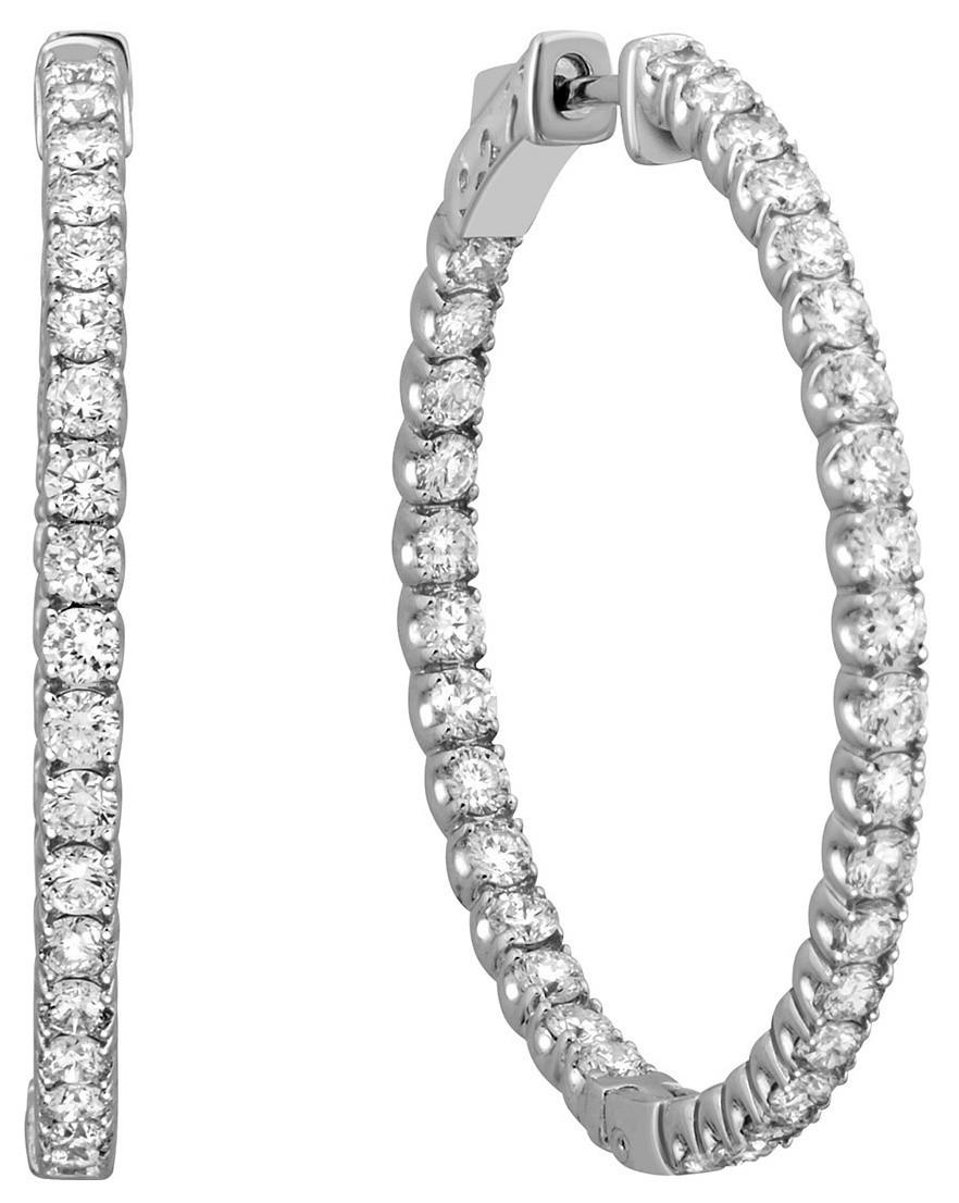 Серьги конго из белого золота с бриллиантами 023220   ЗлатоГрад ad359684293