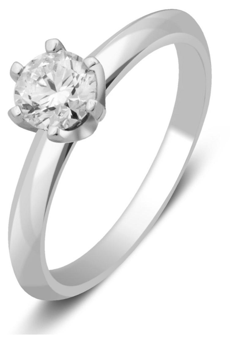 Помолвочное кольцо из белого золота с бриллиантом 027867   ЗлатоГрад 5e36c262bdc