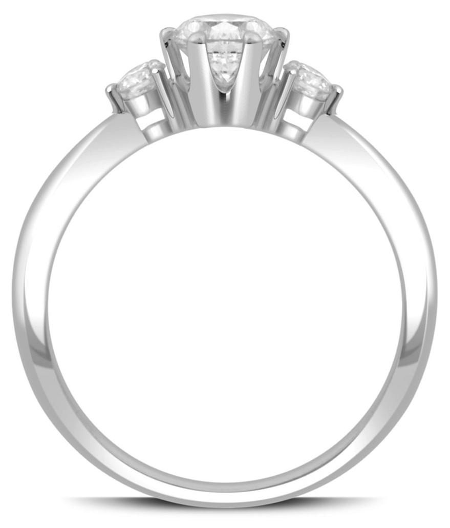 Помолвочное кольцо из белого золота с бриллиантами 038085   ЗлатоГрад 360d05ca1fe