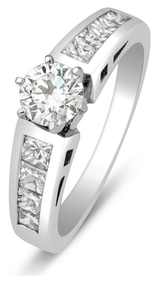 Помолвочное кольцо из белого золота с бриллиантами 013496   ЗлатоГрад 90bdcd676f6