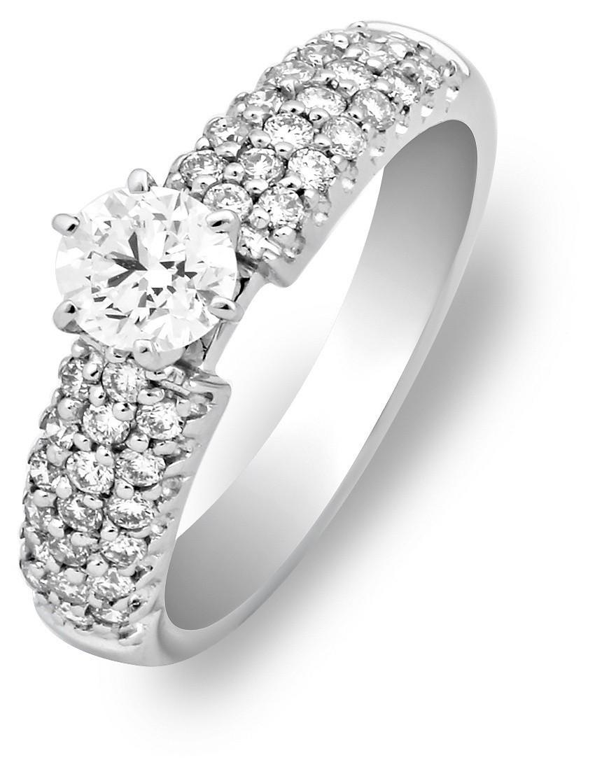 Помолвочное кольцо из белого золота с бриллиантами 010019   ЗлатоГрад ba711aac9e8