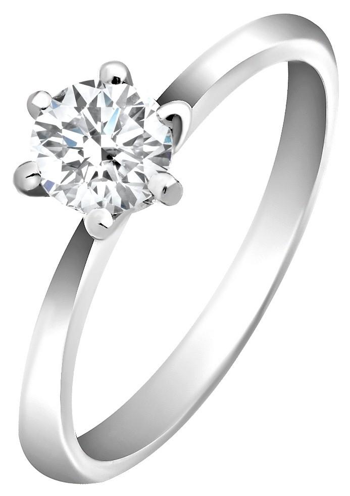 Помолвочное кольцо из белого золота с бриллиантом 014276   ЗлатоГрад 745910580fa