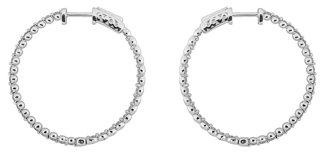 Серьги конго с бриллиантами 012507   ЗлатоГрад e2687470f78