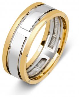 20 % Обручальное кольцо из комбинированного золота с бриллиантами 2707d612a58