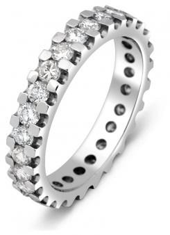 1d0310548962 50 % Обручальное кольцо из белого золота с бриллиантами