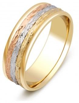 Обручальные кольца из комбинированного золота парные - купить ... a9cb3f2007e