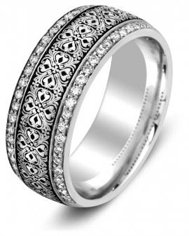 Обручальные кольца парные и с двойной дорожкой - купить парные ... ce1921e9548