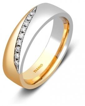 73cf831c6c0b 10 % Обручальное кольцо из комбинированного золота с бриллиантами TIAMO