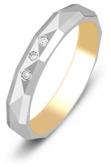 46d22c53b417 10 % Обручальное кольцо из комбинированного золота с бриллиантами Tiamo