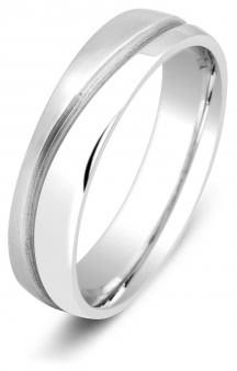 0d909ee463af 10 % Обручальное кольцо из белого золота TIAMO