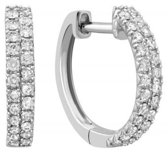 Серьги конго с бриллиантами из белого золота 030663   ЗлатоГрад 8b61625395a