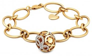 Браслет из комбинированного золота с бриллиантами (017951)