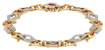 Браслет из комбинированного золота с бриллиантами (018271)