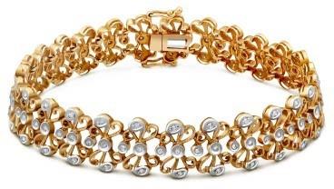 Браслет из комбинированного золота с бриллиантами (020269)