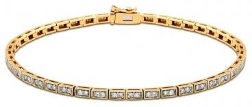 Браслет из комбинированного золота с бриллиантами (020613)