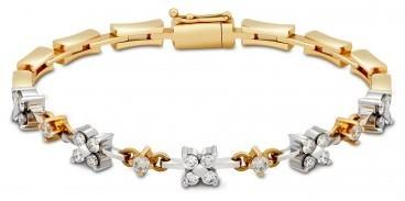 Браслет из комбинированного золота с бриллиантами (014676)
