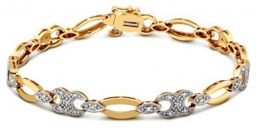 Браслет из комбинированного золота с бриллиантами (019800)